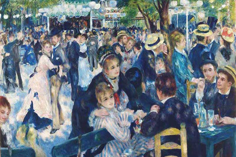 Renoir - Moulin de la Galetie'de-1876- 131 x 175 cm, Orsay Müzesi, Paris